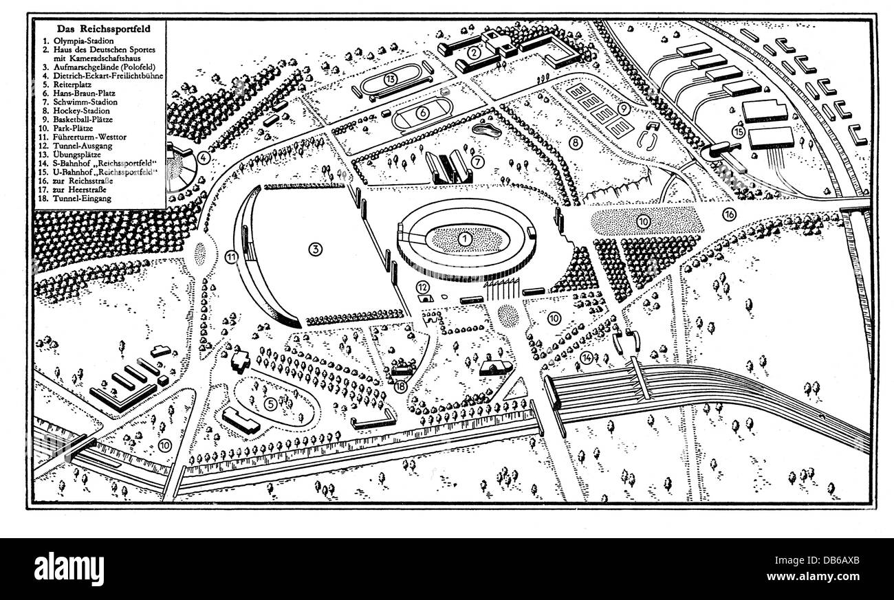 Geography Travel Germany Berlin Olympic Area Map Drawing - Germany map drawing