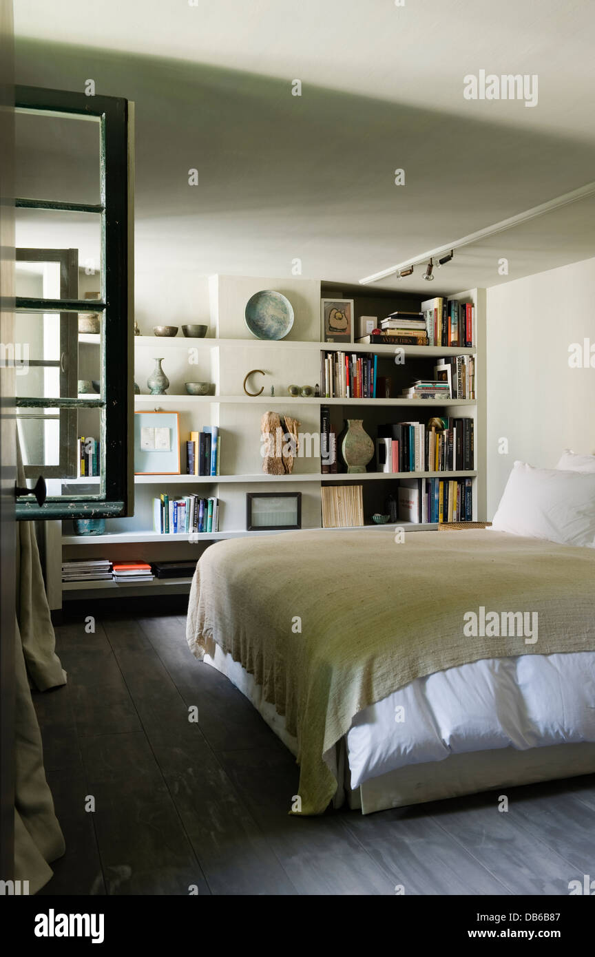 Shelving For Bedroom White Bedroom With Shelving In Antwerp Apartment Of Boris