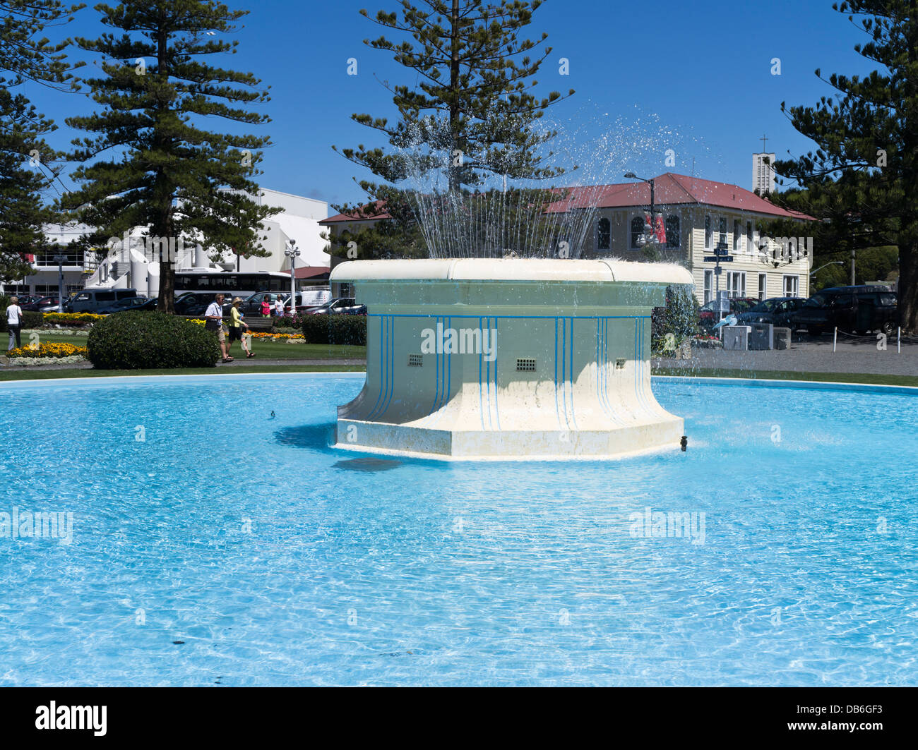 Water fountains outdoor new zealand - Stock Photo Dh Marine Parade Gardens Napier New Zealand Tom Parker Art Deco Water Fountain Pond