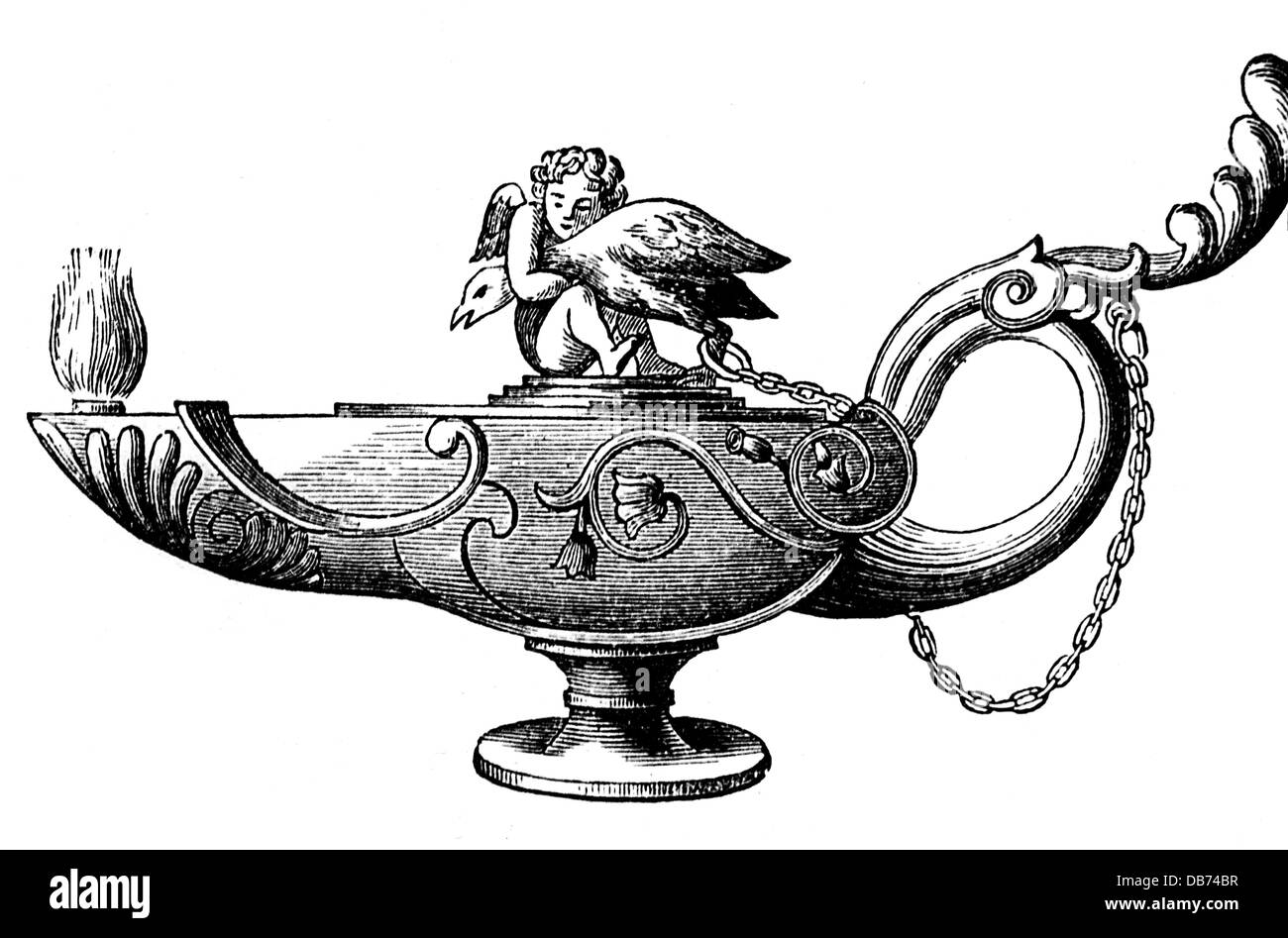 Roman oil lamp stock photos roman oil lamp stock images alamy energy petroleum ancient roman lamp wood engraving before 1896 19th century graphic graphics ancient world ancient buycottarizona Images