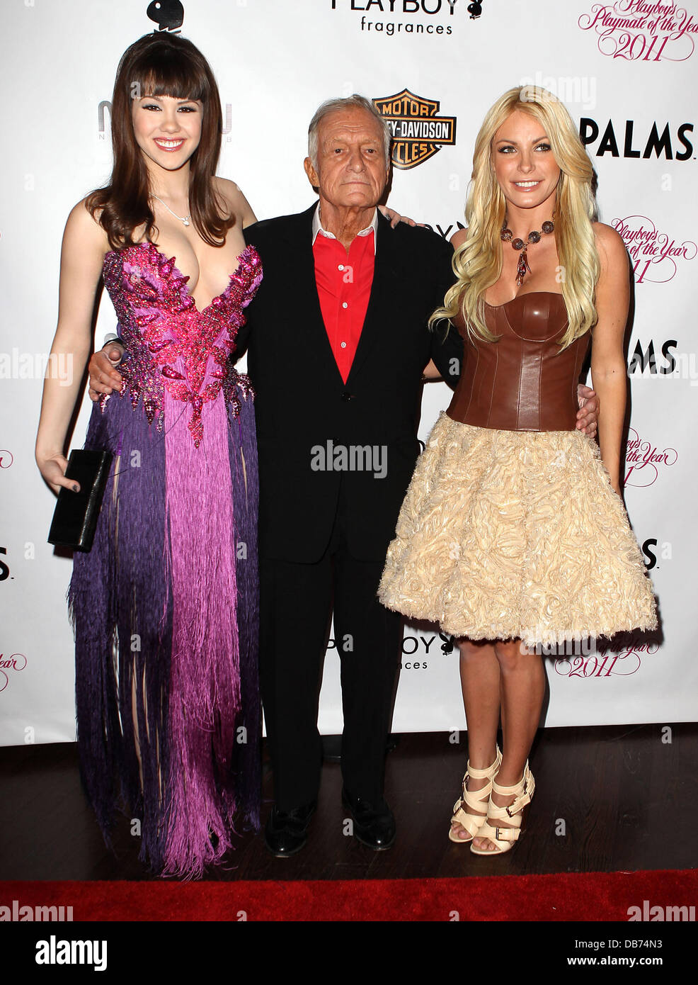 Claire Sinclair, Hugh Hefner, Crystal Harris Playboys ...