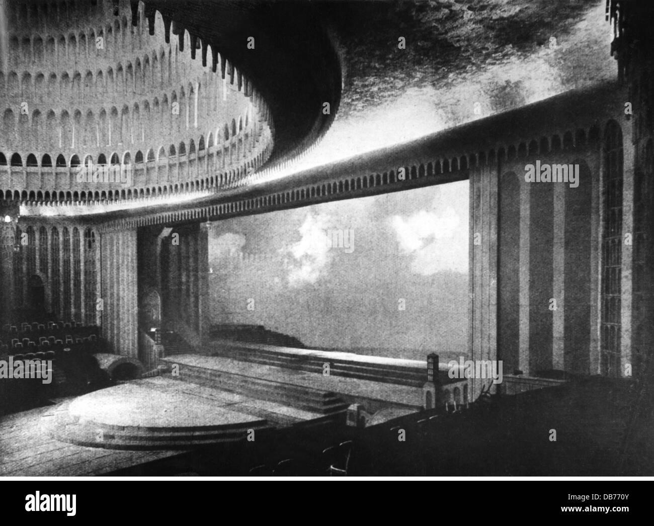 theatre theater interior stage Grosses Schauspielhaus ...