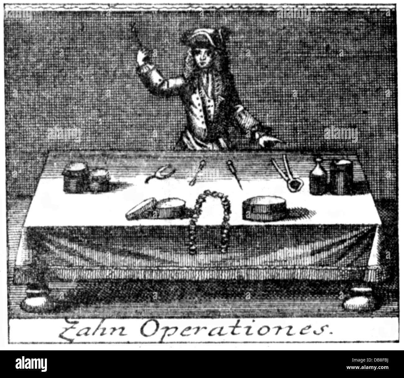 Medicine Dentistry Dentist With Instruments Copper Engraving 18th ...
