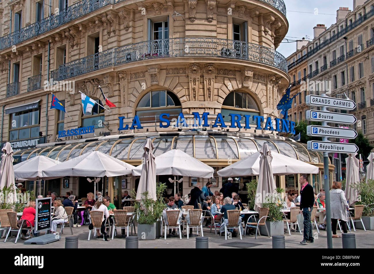 La samaritaine restaurant cafe bar pub marseilles france - Restaurant le vieux port marseille ...