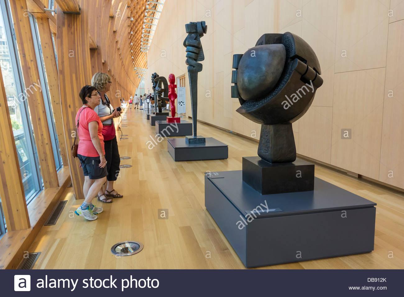 sorel etrog sculptures in frank gehry designed galleria italia in