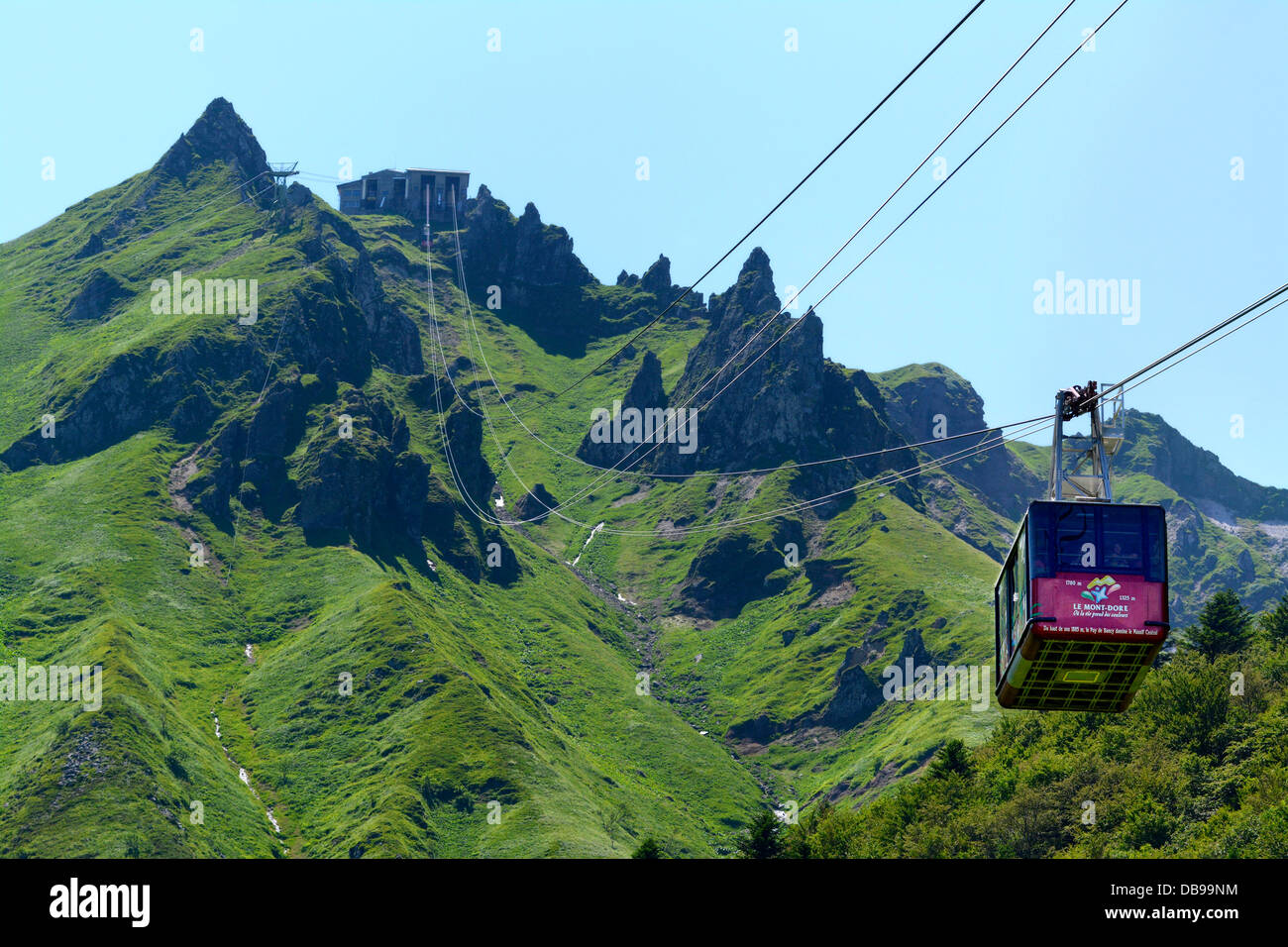 cable car in the ski resort of le mont dore going up the puy du stock photo royalty free image