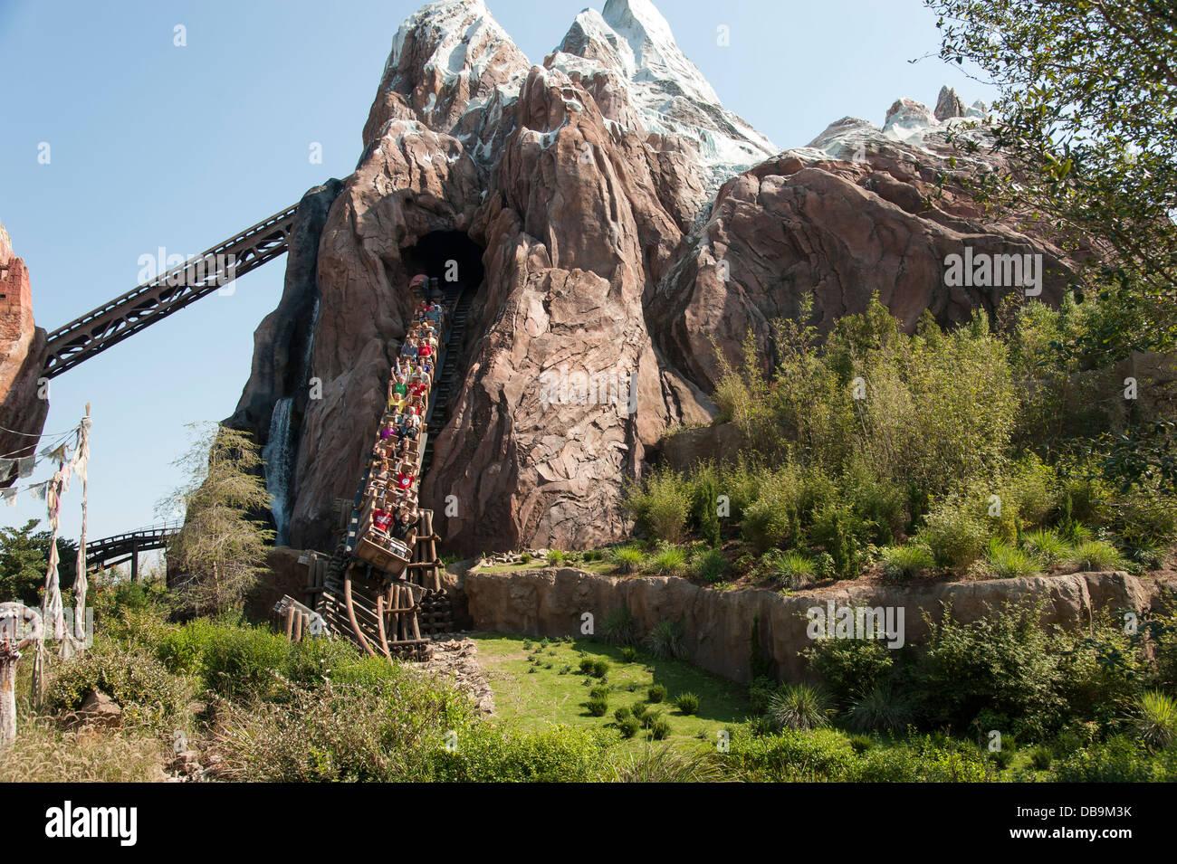 Expedition everest roller coaster at disney s animal kingdom at walt disney world resort orlando florida