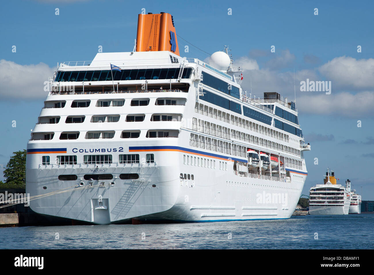 Cruise Ship Columbus II At Harbour In Copenhagen Stock Photo - Cruise ship copenhagen