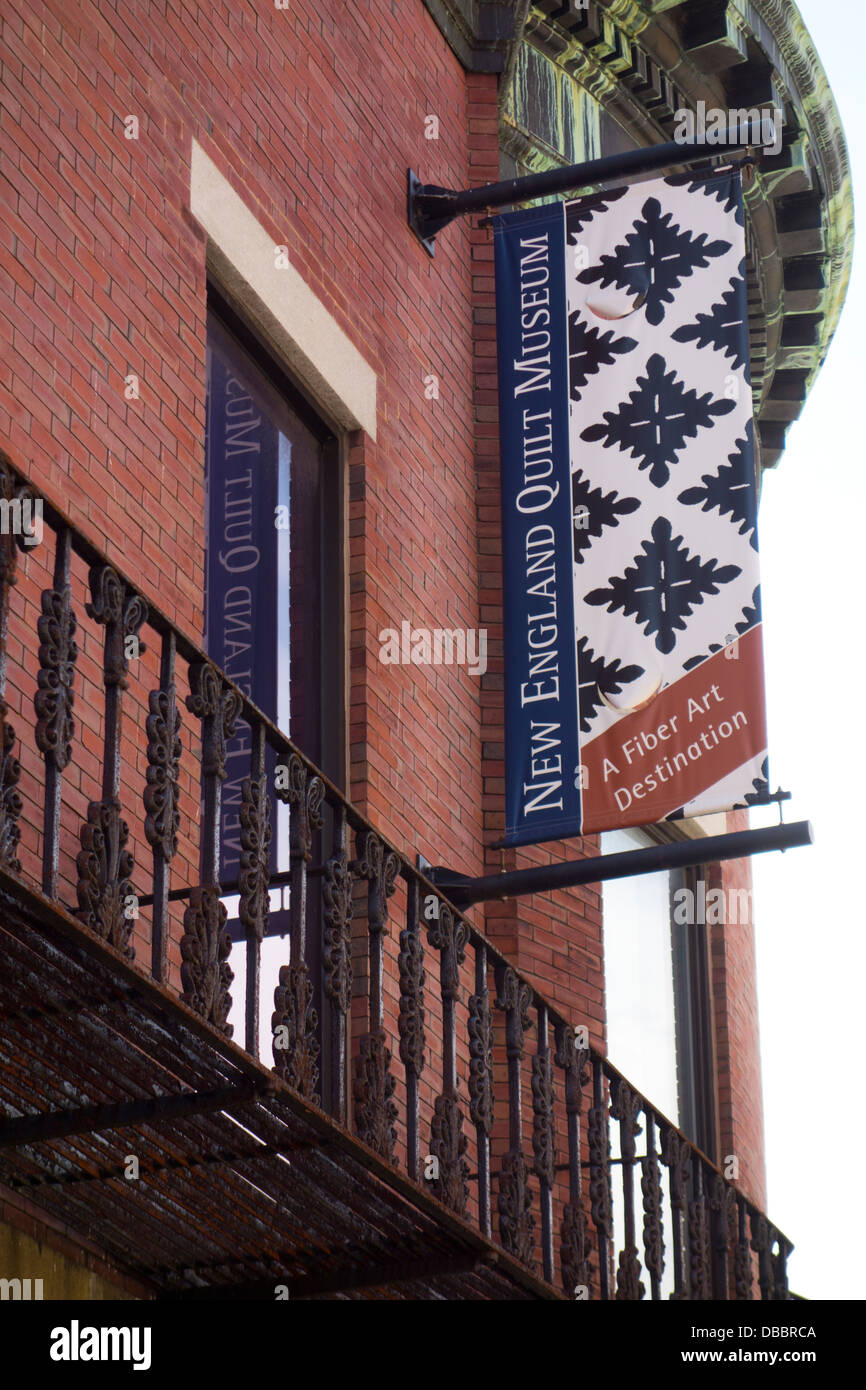New England Quilt Museum In Lowell Ma Stock Photo Royalty