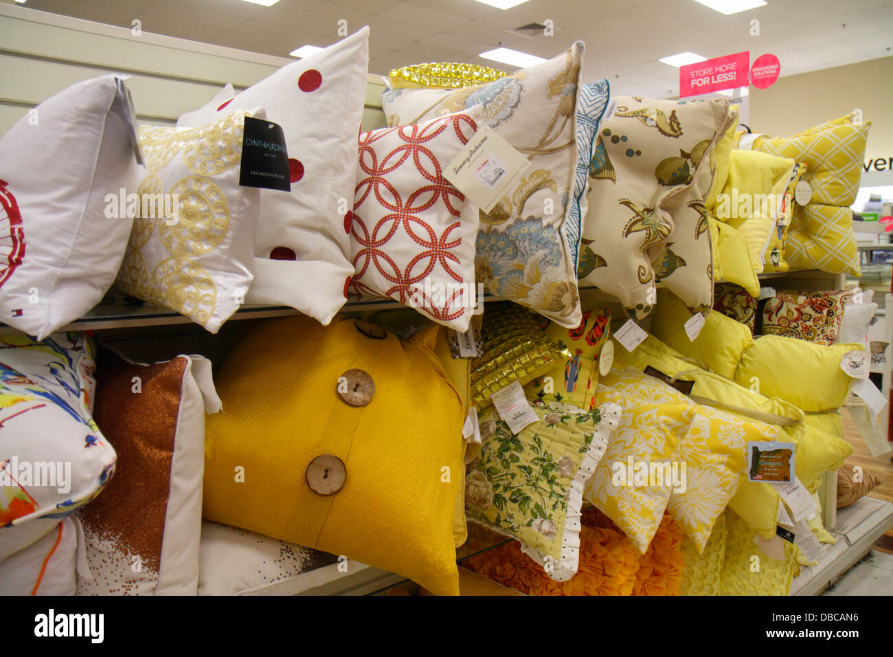 Miami Florida Aventura Marshalls Home Goods discount department store  retail display sale pillows. Miami Florida Aventura Marshalls Home Goods discount department