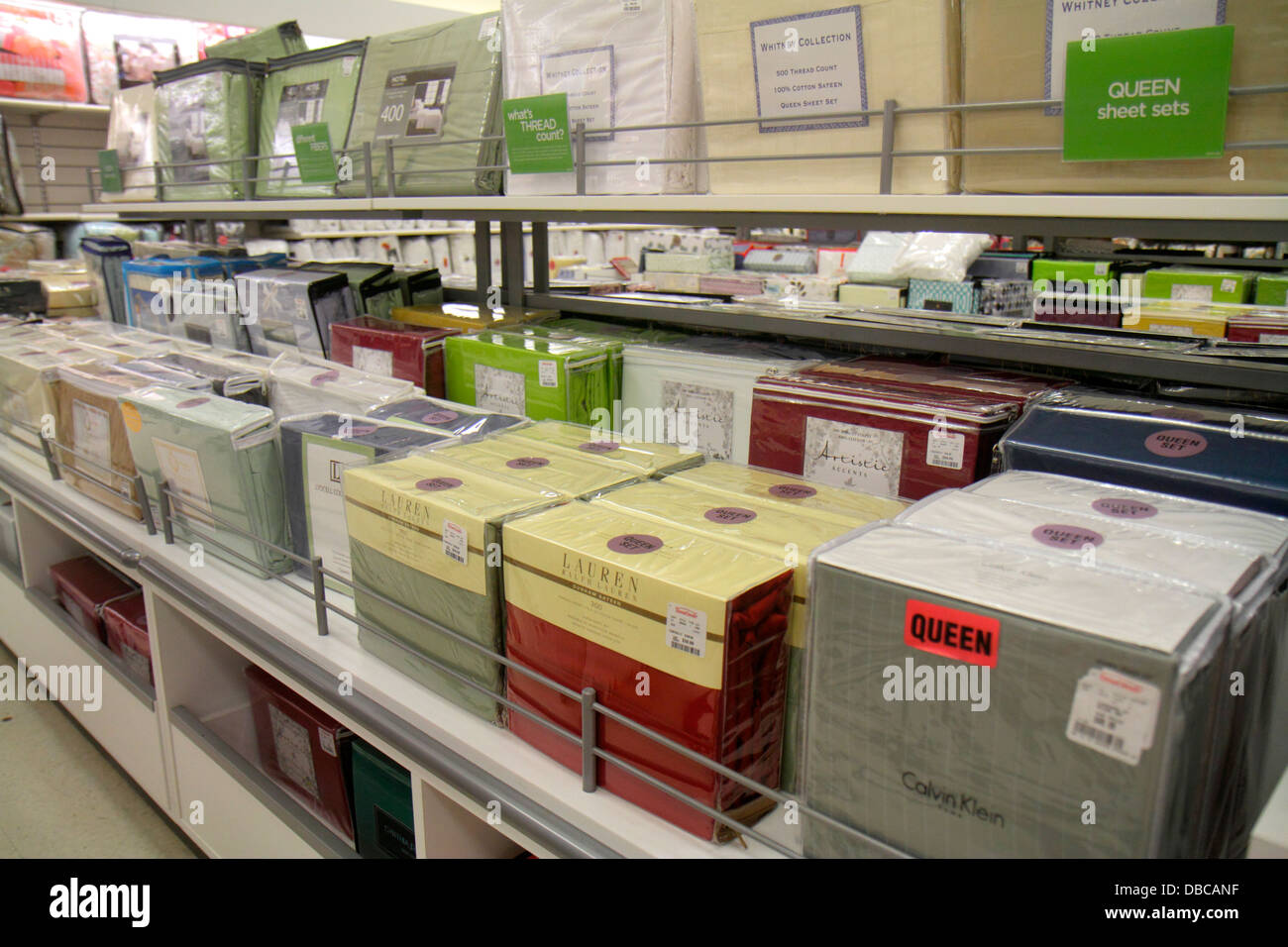 Miami Florida Aventura Marshalls Home Goods discount department store  retail display sale sheets bedding. Miami Florida Aventura Marshalls Home Goods discount department
