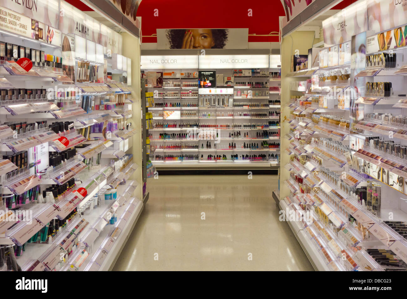 Cosmetic Aisle In Target Stock Photo 58668347 Alamy