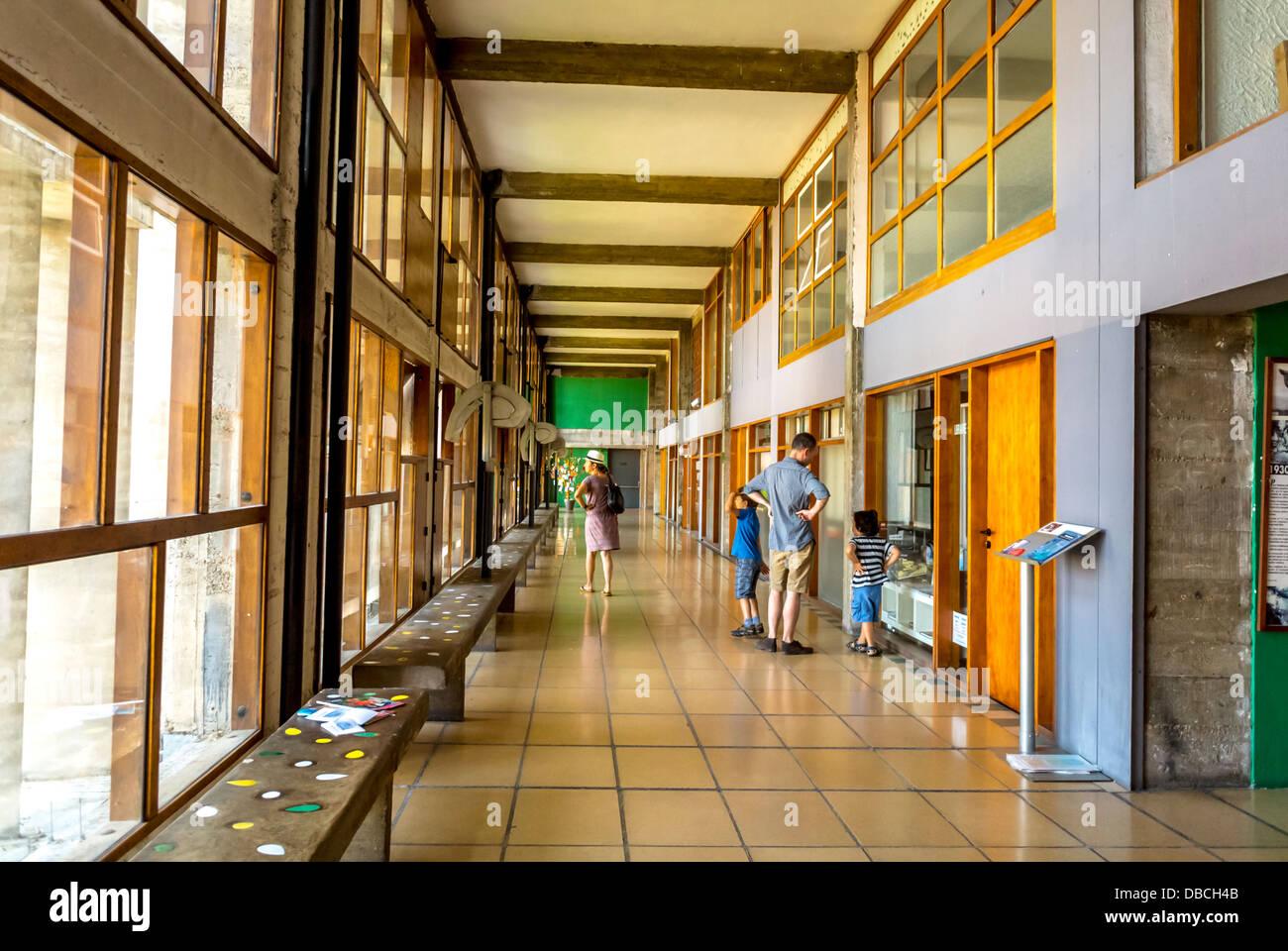 Apartment Building Hallway marseille, france, inside hallway, people visiting modern stock