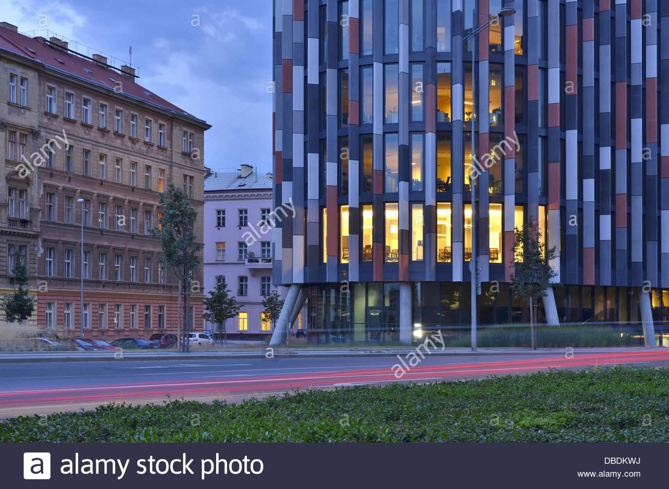 Main Point Modern Office Building In Karlin Prague Czech - Modern office building