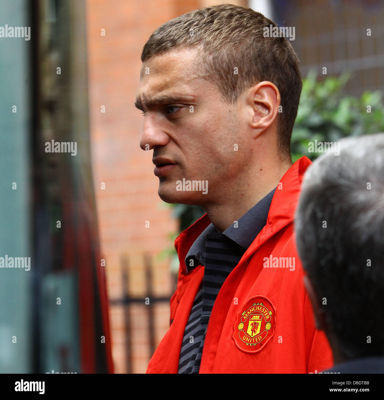 Nemanja Vidic The Manchester United team and management leave
