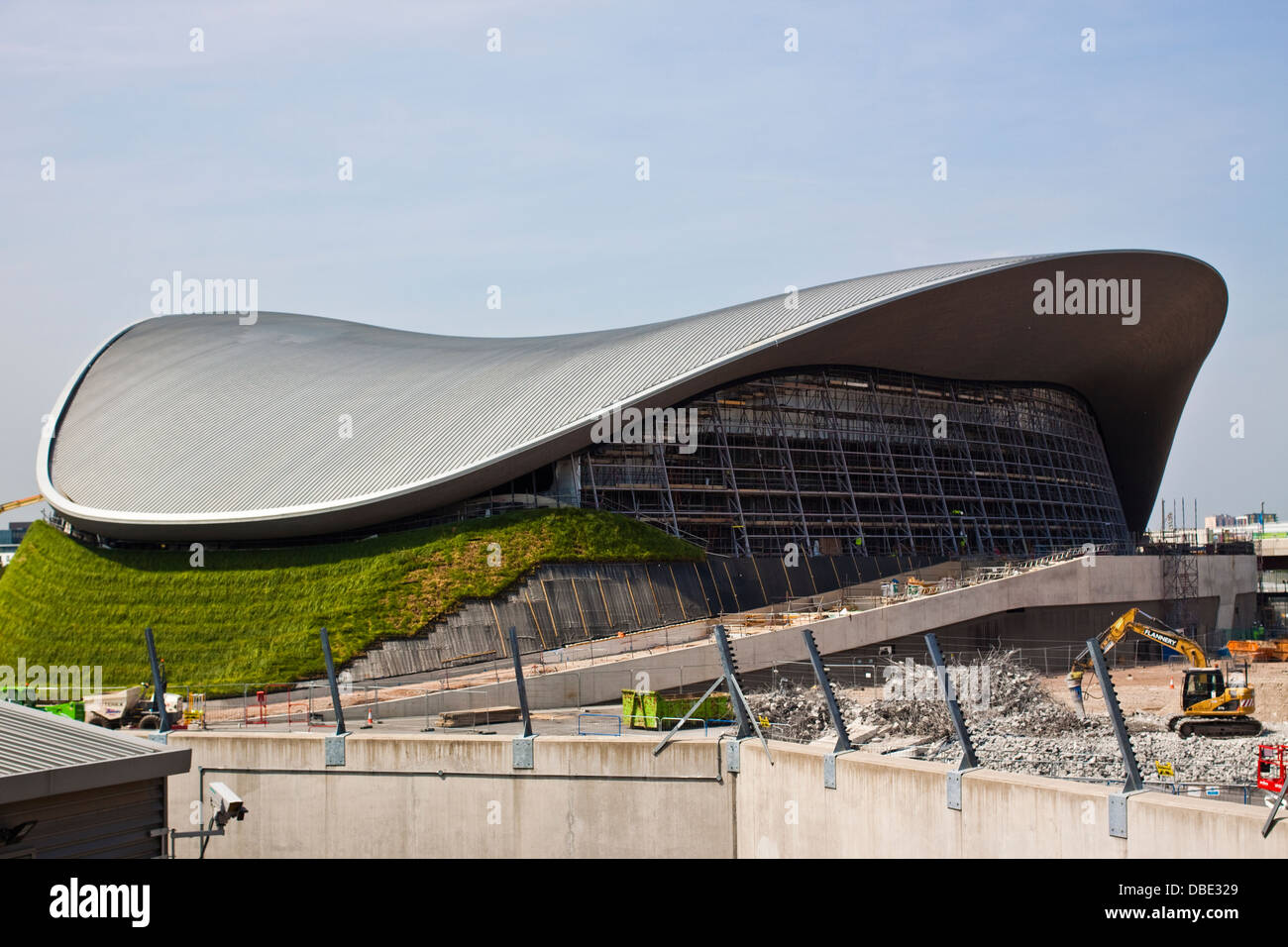 olympic swimming pool without temporary seating sections stratford stock photo royalty free