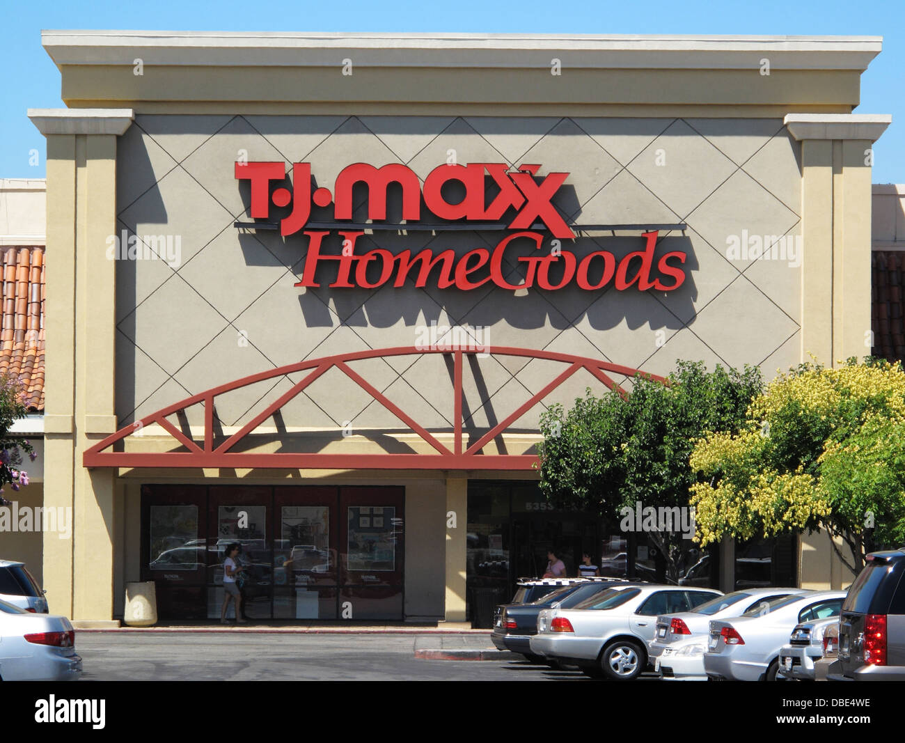 Stock Photo   TJ Maxx Home Goods department store in San Jose  California. TJ Maxx Home Goods department store in San Jose  California Stock