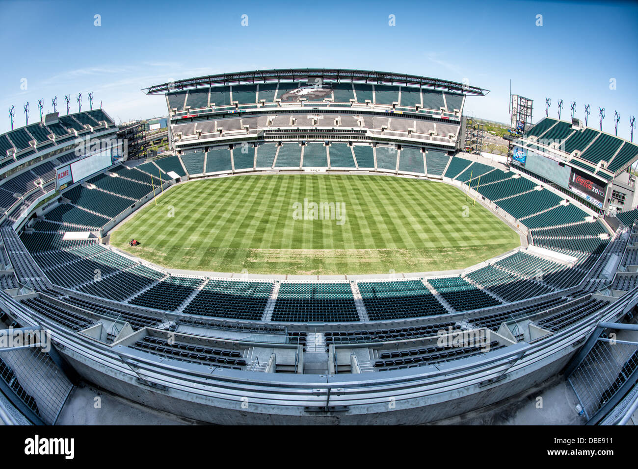 Wide Angle Shot Of An Empty Lincoln Financial Field Home