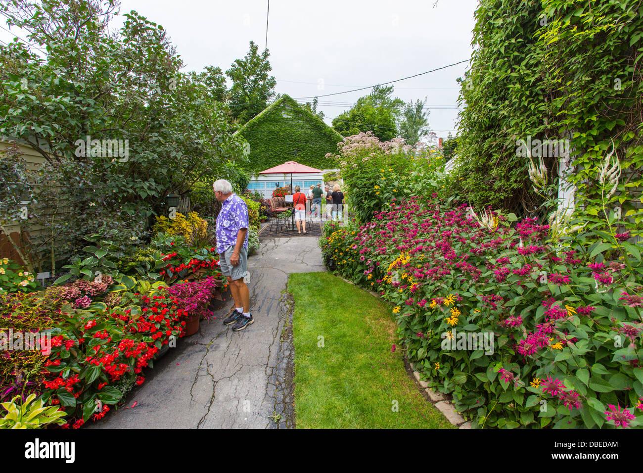 Garden Walk Buffalo Cottage District 5: People In Cottage District Part Of GardenWalk Buffalo NY