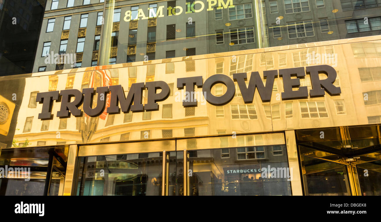 trump tower building new york city stock photo royalty free image 58755068 alamy. Black Bedroom Furniture Sets. Home Design Ideas