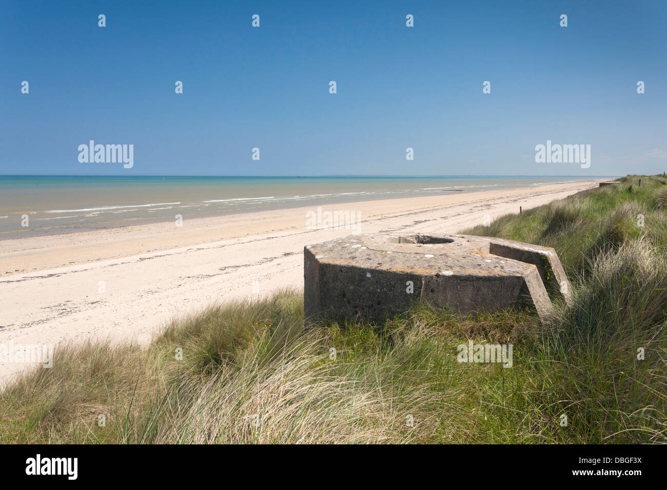 D day beaches map france
