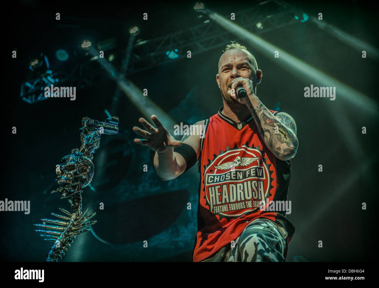 heavy metal band five finger death punch performing live