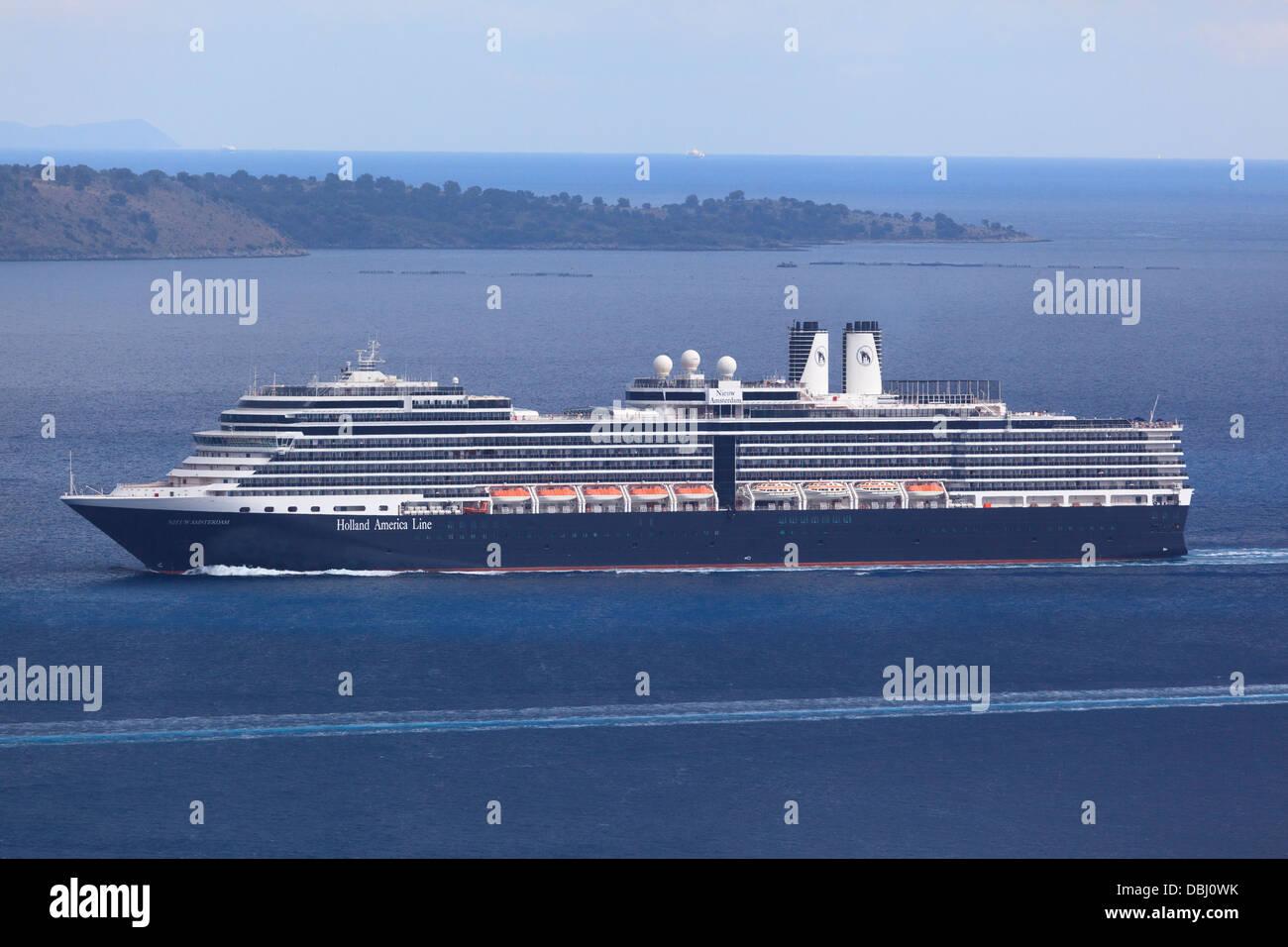 The Nieuw Amsterdam Cruise Ship Sailing Through The Straits - Amsterdam cruise ship