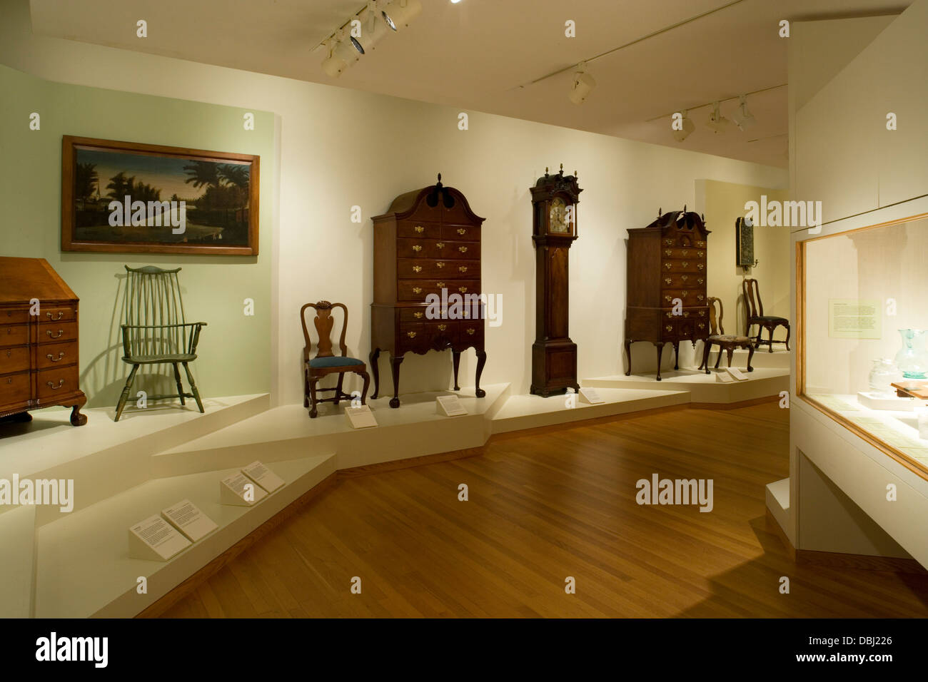Amazing Stock Photo   Worcester Art Museum   Early American Furniture Exhibit