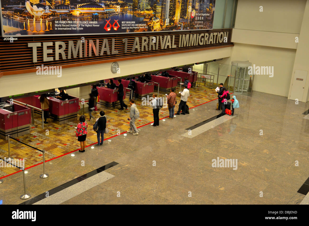 singapore changi airport arrival immigration counters. Black Bedroom Furniture Sets. Home Design Ideas