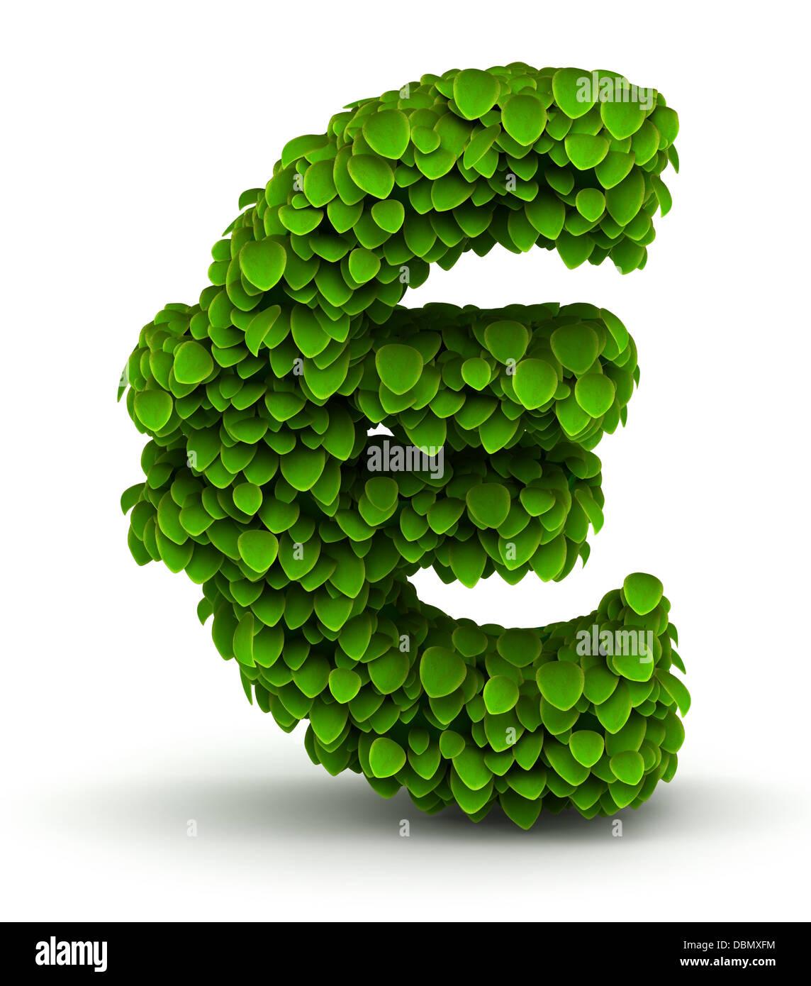 Euro symbol green leaves font stock photo 58852184 alamy euro symbol green leaves font biocorpaavc Gallery