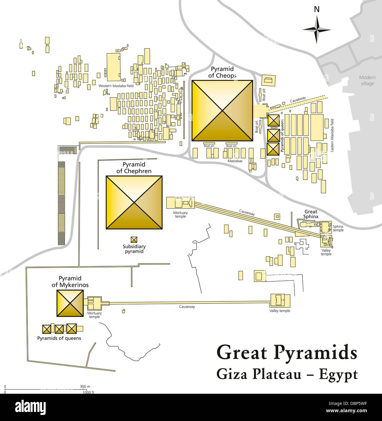 Pyramids Of Giza Map Stock Photo Royalty Free Image Alamy - Map of egypt pyramids and sphinx