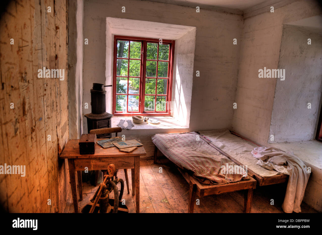 Interior of an old swedish House Stock Photo, Royalty Free Image ...
