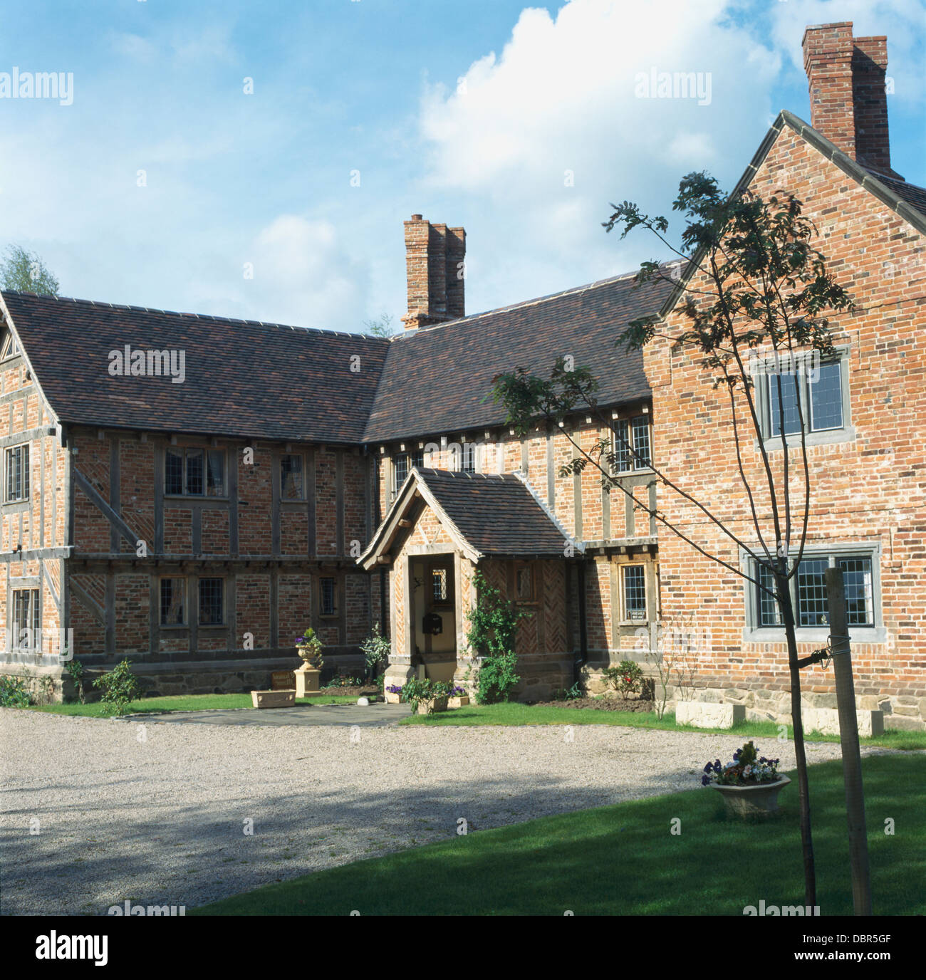 Large new build tudor style country house with brick for Build country home