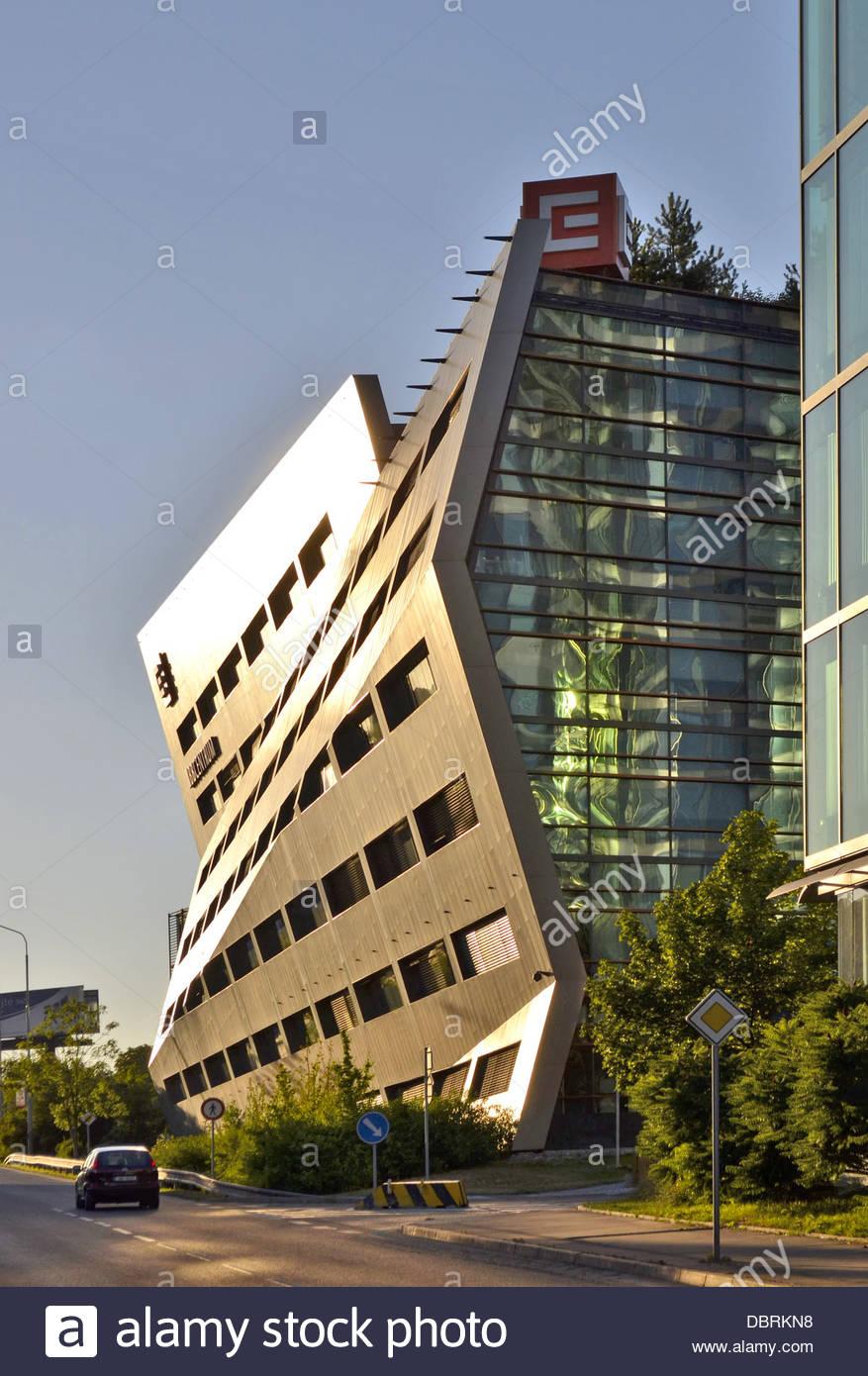 Modern office buildings in Prague Czech Republic Stock Photo ...
