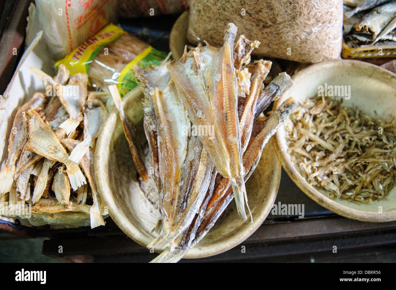 Dried fish for sale at a morning market in hanoi vietnam for Stock fish for sale