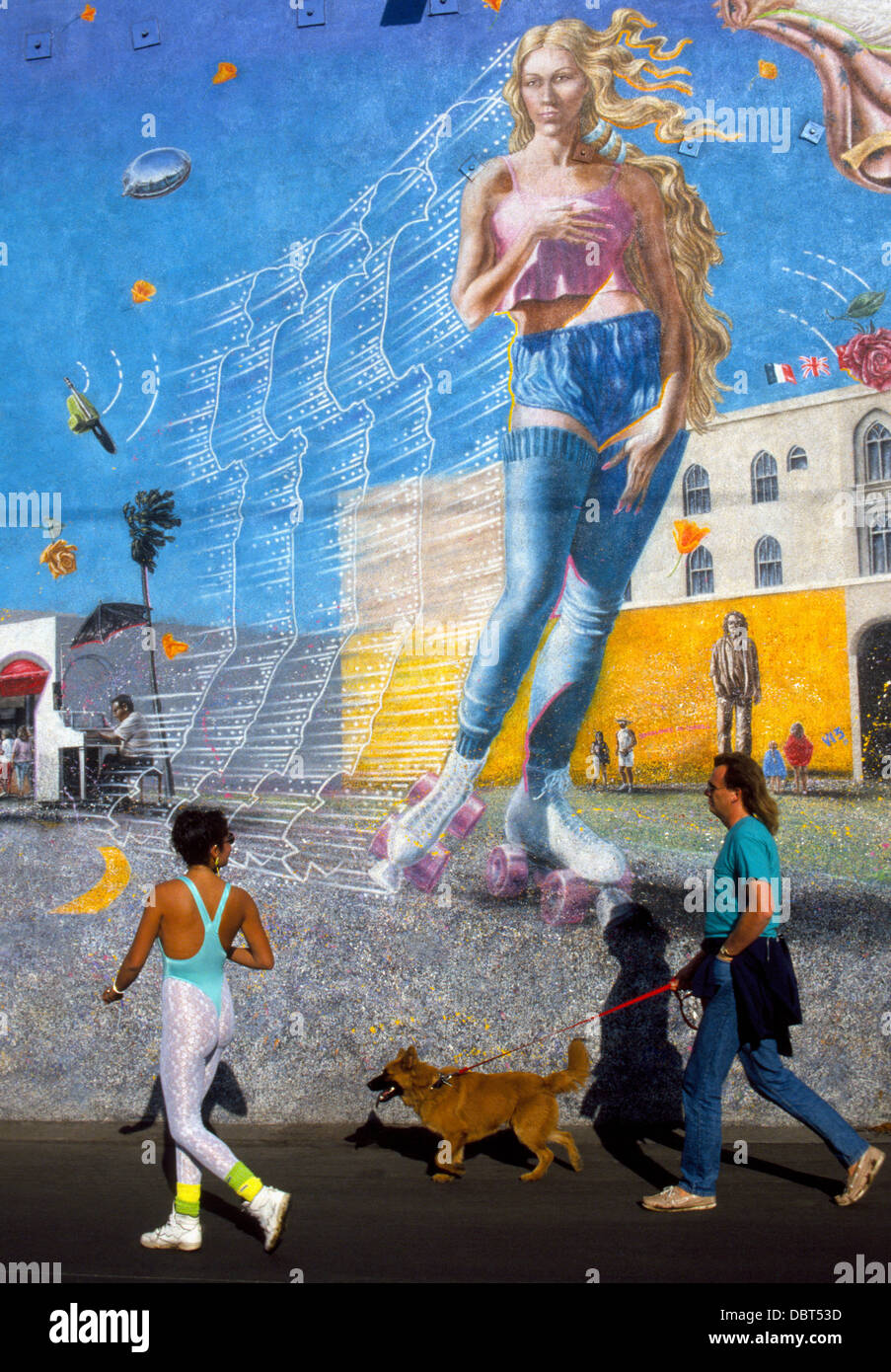 intriguing wall murals like this huge painting of a roller skater intriguing wall murals like this huge painting of a roller skater decorate some buildings along the venice beach boardwalk in venice california usa