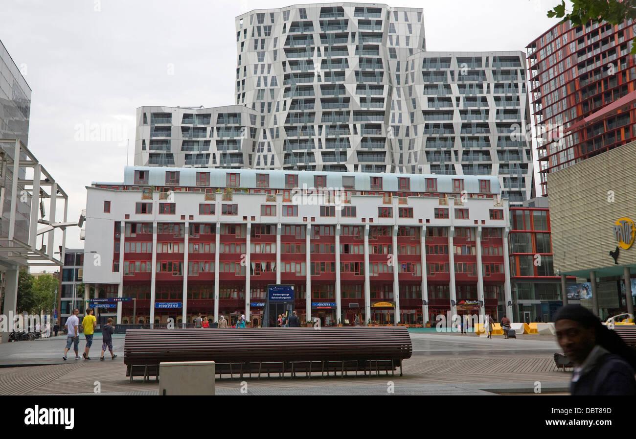 Modern Architecture Netherlands modern architecture apartments housing schouwburgplein rotterdam