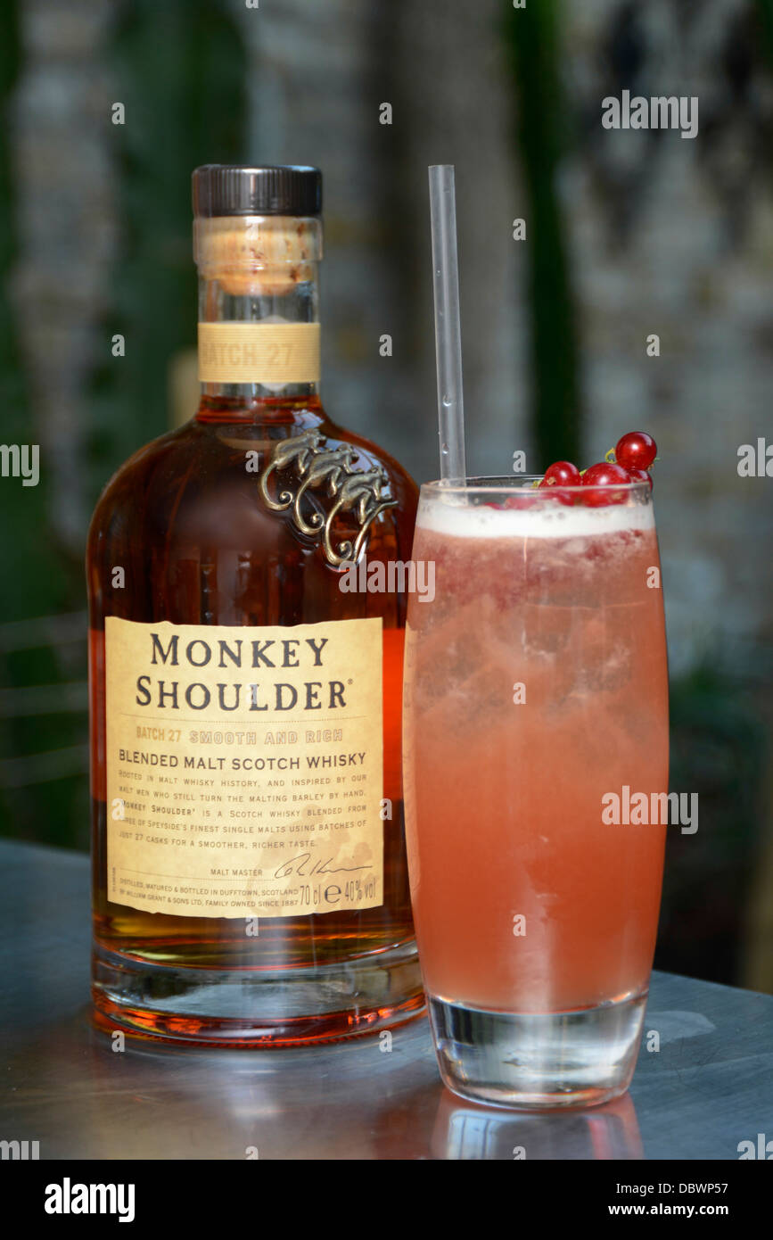 Monkey shoulder blended malt whisky summer cocktail and for Good summer whiskey drinks