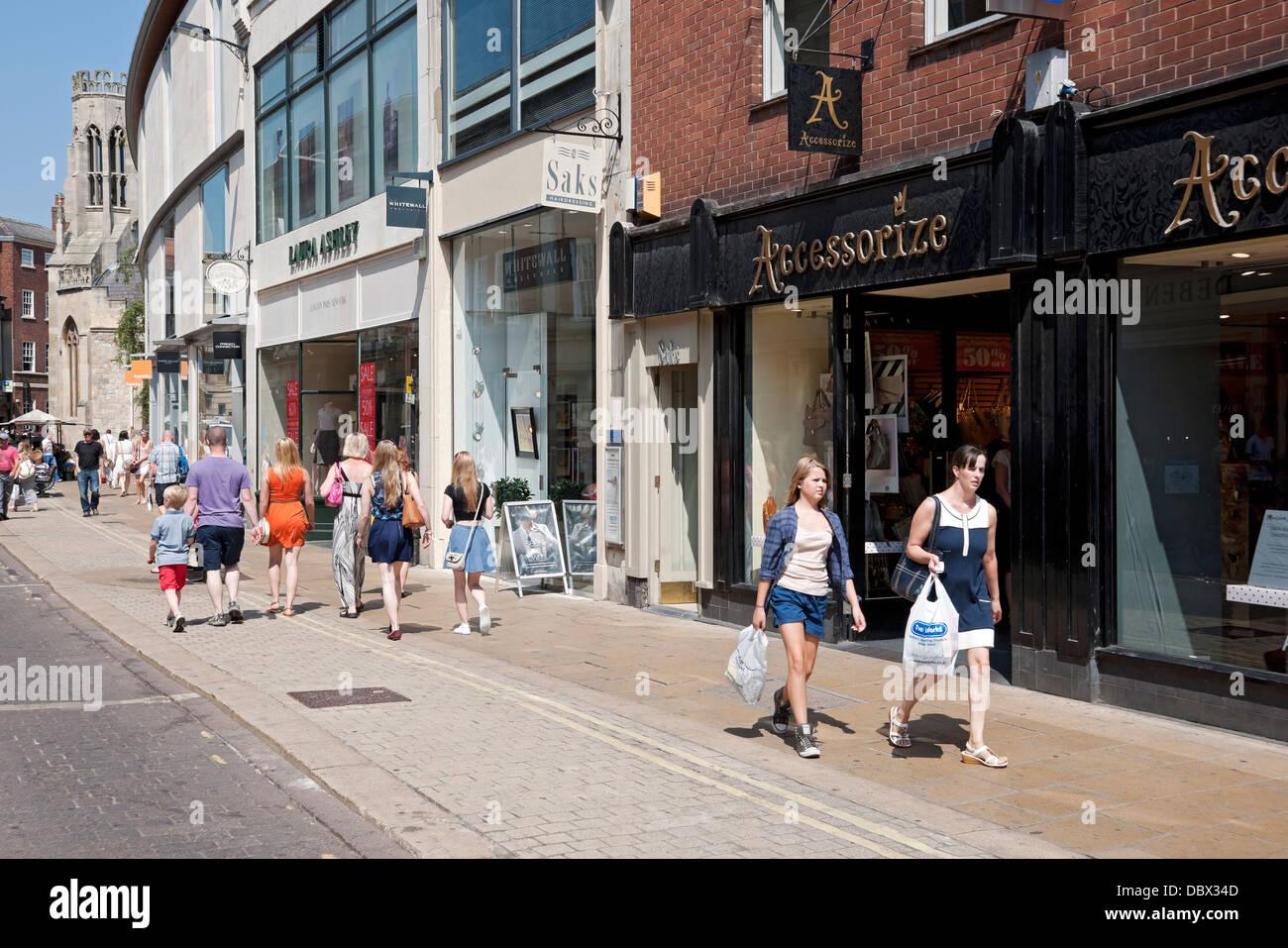 york shops. shops in davygate york north yorkshire england uk united kingdom gb great britain b