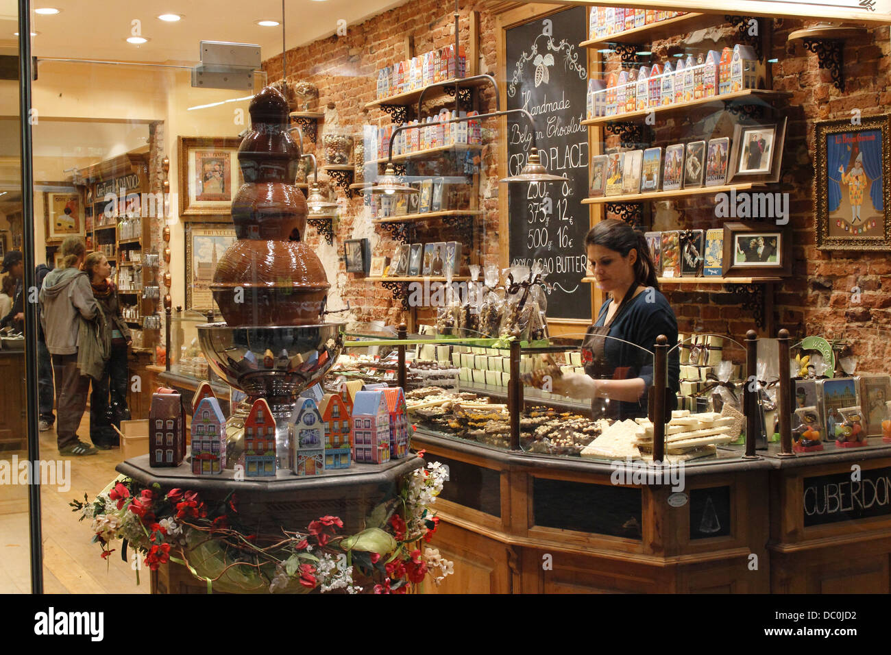 Brussels Belgium Europe Grand Platz Belgian chocolate shop in ...