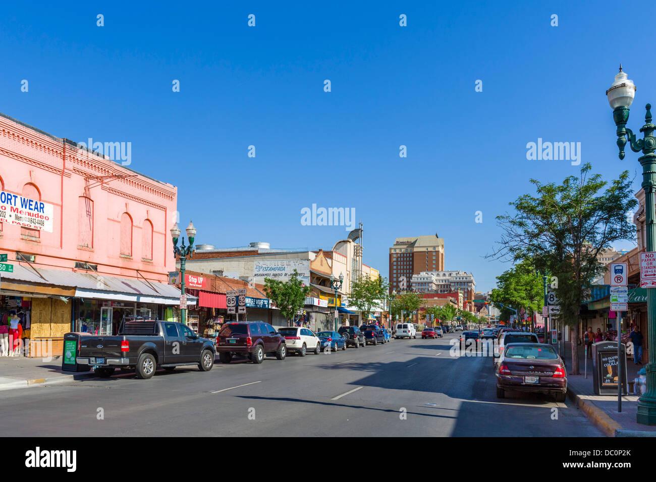 South el paso street in downtown el paso texas usa stock for El paso america