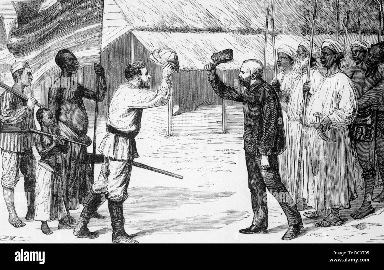 Elegant 1870s U201cDOCTOR LIVINGSTONE, I PRESUMEu201d NEWSPAPER CORRESPONDENT STANLEY  GREETS MISSIONARY LIVINGSTON 1871 LAKE TANGANYIKA AFRICA Intended Doctor Livingstone I Presume