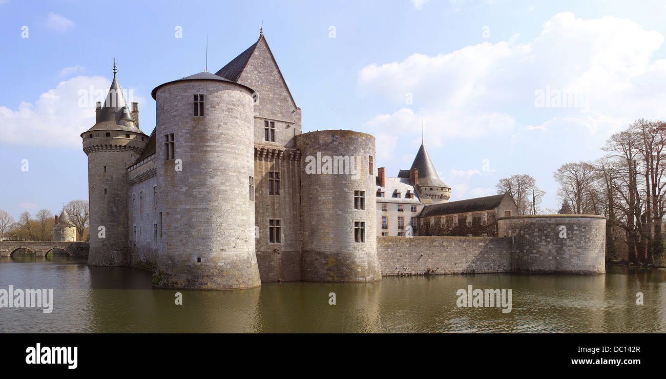 A Medieval Castle With Its Moats Towers And Dungeon Stock