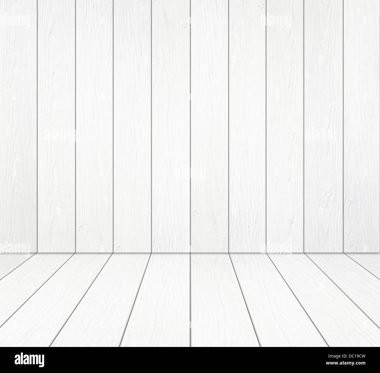 white wood floor background. Room Interior With White Wood Wall And Floor Background H