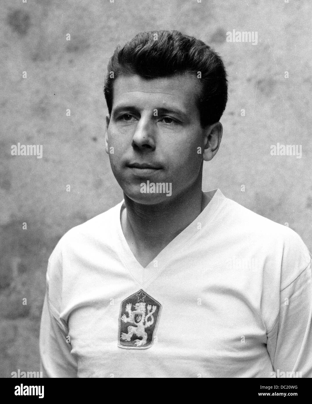Soccer player Josef Masopust member of the silver medal winning
