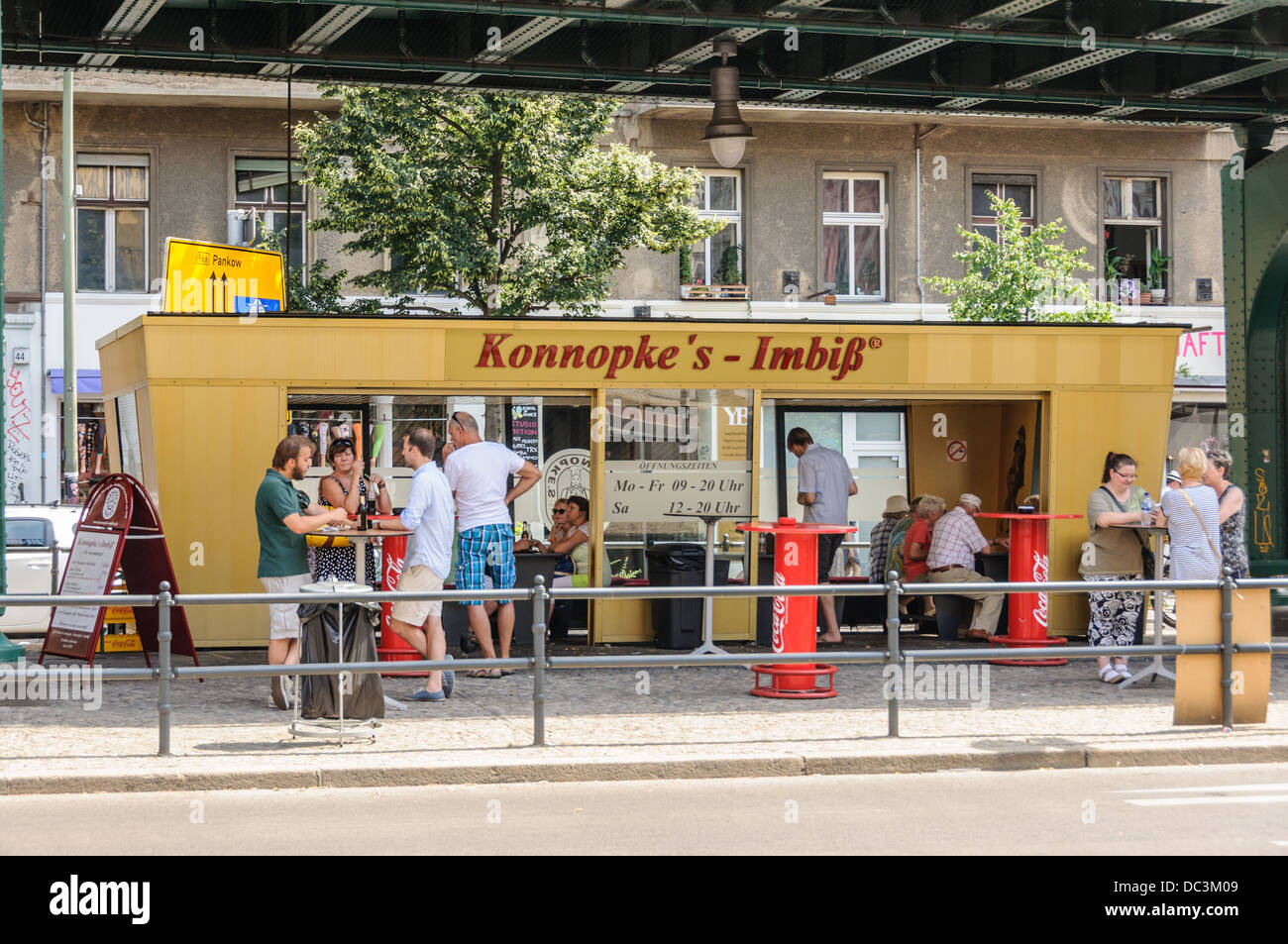 konnopke s imbiss famous snack bar in former east berlin germany stock photo 59088521 alamy. Black Bedroom Furniture Sets. Home Design Ideas