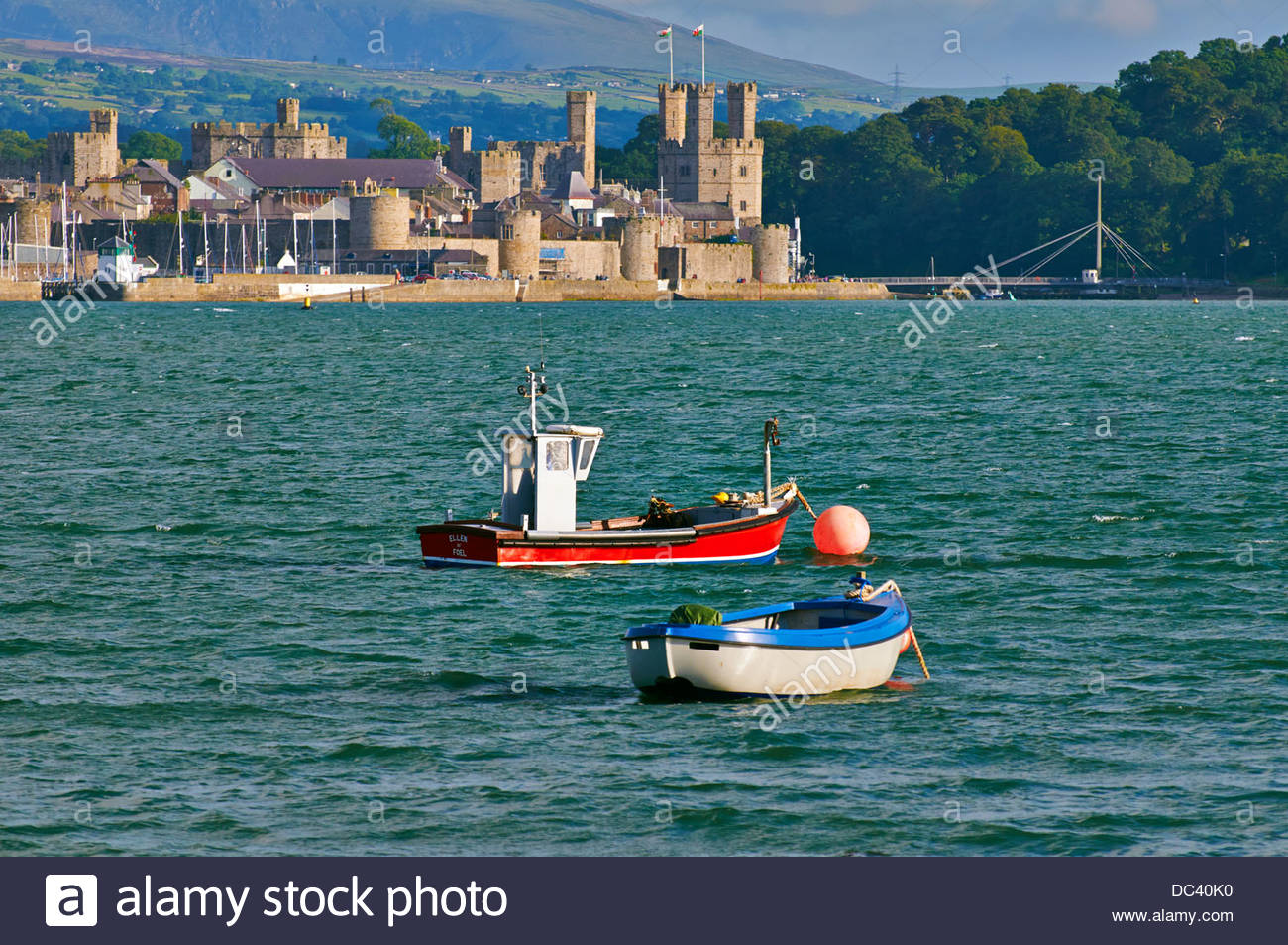 Two small motor fishing boats on the menai strait anglesey for Small fishing boats with motor
