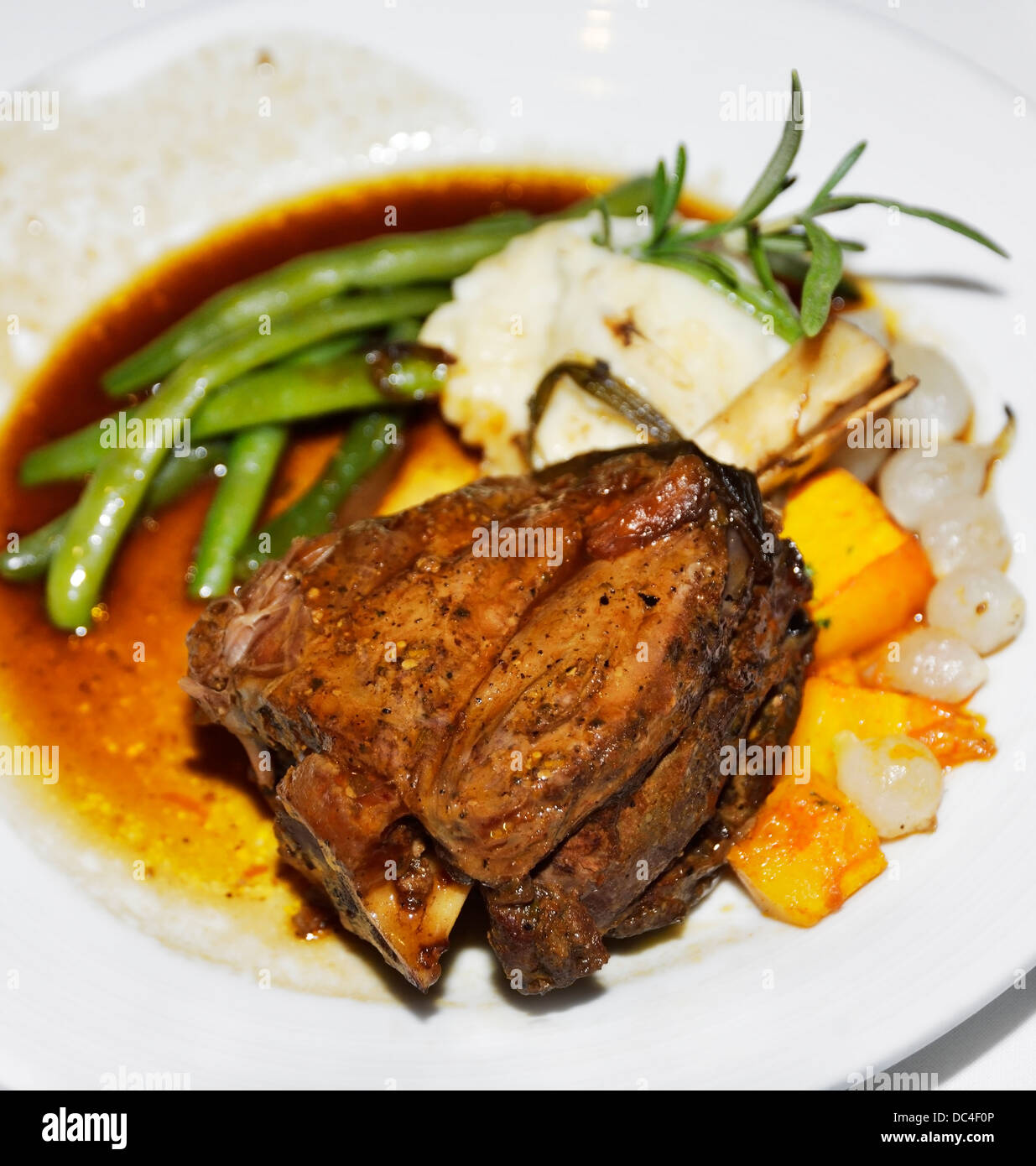 Roasted Lamb Shank With Vegetables Stock Photo, Royalty Free Image ... for Roasted Lamb Shank  131fsj