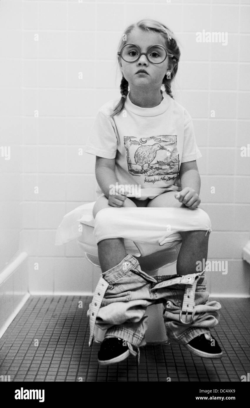 Stock Photo Young Girl Going To The Bathroom Young Girl Going To The Bathroom Stock