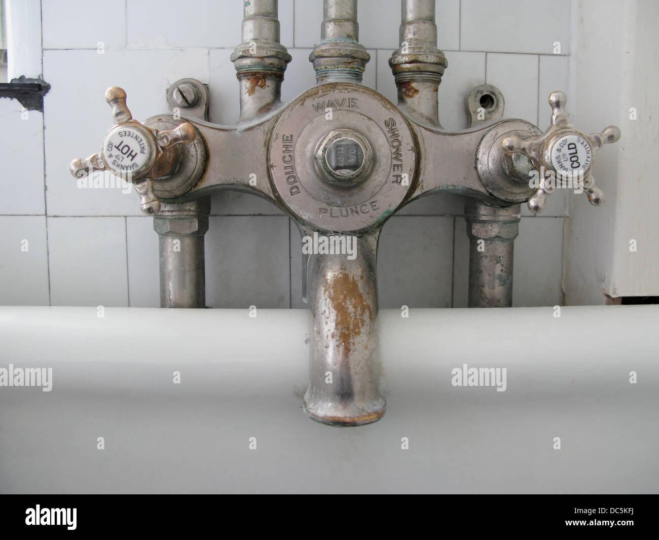 Old taps, bathtube. England, UK Stock Photo, Royalty Free Image ...
